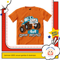 Baju anak laki-laki / Kaos anak laki-laki motif Car-Offroad