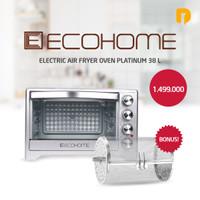HOV Ecohome Electric Air Fryer Oven Platinum 38 L Low Watt + Aksesoris