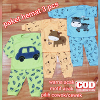 promo paket 3 pcs baju tidur bayi termurah kualitas bagus usia 0-12 bl