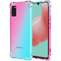 Shock Gradient Case Samsung Galaxy A02s - Rainbow Clear Cover Fit Ori
