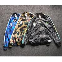 Jaket Tracktop Adidas x BAPE Fullprint Unisex Premium Hoodie With Tag