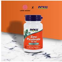NOW Zinc Picolinate 50mg 60 Vegan Capsules
