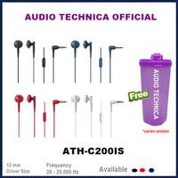 Audio Technica ATH-C200iS In-ear Headphones Earphone C200 IS C200IS - Merah