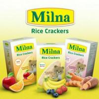 Milna RICE CRACKERS bayi 6+ BANANA /APEL /POTATO 20gr ( NEW PRODUCT)