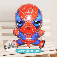 Balon Foil Spiderman plastik Balon spiderman Plastik / balon karakter