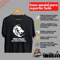 Kaos Pria Distro Merah Darahku Putih Tulangku Biru Jiwaku Arema Murah - Hitam, L