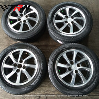 Velg mobil seken original Daihatsu Sigra Ring 14 ban Bridgestone 175