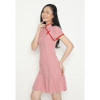 MINEOLA Dress Cheongsam Remple Wanita - M