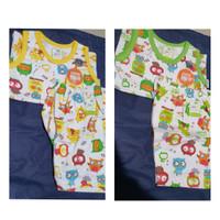 Velvet Junior setelan baju kutung celana pendek anak bayi harga 1 stel - S owl hijau