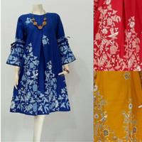 Baju Batik Wanita Nk Batik Tunik Atalia Jombo