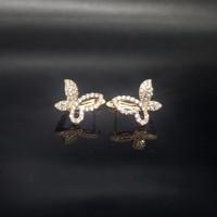 Anting Korea bentuk kupu-kupu Lapisan emas Xuping warna gold