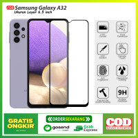 Tempered Glass Full Samsung Galaxy A32 AntiGores Kaca Full Layar