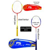 raket badminton frasser challenger 2212 steel lentur import bonus tas