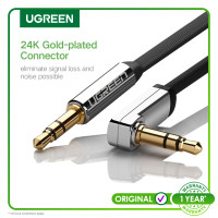 Ugreen Audio Cable 3.5mm 90° Right Angle Flat 1 Meter Flat (10597)