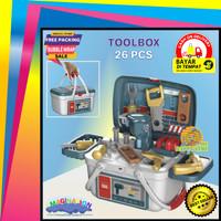 Mainan Anak Laki Cowok Alat Tukang Perkakas Bengkel Tools Box 2 In 1