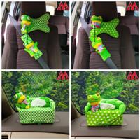 Bantal Headrest Cover Sarung Seatbelt Tempat Tisu Mobil Keroppi Boneka