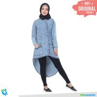 Dress Muslim Gamis Wanita Denim Jeans Keren Original - Inficlo INF 956 - M