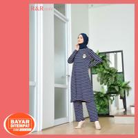 Baju Setelan Celana Wanita Dewasa Terbaru Bahan Kaos Premium Allsize - Pink