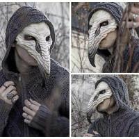 Topeng Burung Hantu Paruh Panjang Karet Latex Doctor Plague Bird Masks
