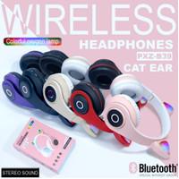 Headset Bando Bluetooh Cat Ear B39 Lampu Led