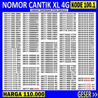 OBRAL 100.1 Nomor Cantik XL TRIPLE ABAB AABB - Nomer Cantik XL ABAB
