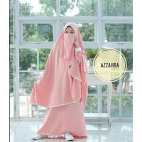 Baju Gamis Anak Azzahra-07 Syar'i Set Khimar + Niqab 7-9 Tahun