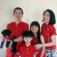 Baju Couple Keluarga Santai Casual Rumah Custom Big Size