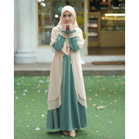 Baju gamis wanita terbaru syari busana muslim remaja rahma dress