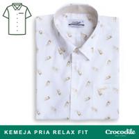 Crocodile EAST 0861 Peanut - Men Shirt Kemeja Lengan Pendek - Relax Fi