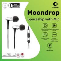 Moondrop Spaceship HiFi Dynamic In Ear Earphones With Mic – Chrome
