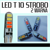 Lampu T10 Gell 8 LED 2 Warna Senja Sein Strobo