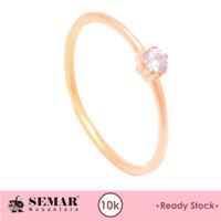 Cincin Emas Wanita Batu Putih Semar Nusantara RS - Pink, 10-11