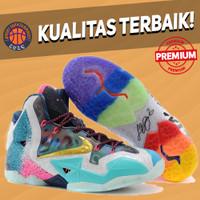 Sepatu Basket Sneakers Nike Lebron 11 What The Multicolor Pria Wanita