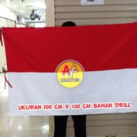 Bendera Merah Putih Bahan Drill 100 cm x 150 cm ( PREMIUM )