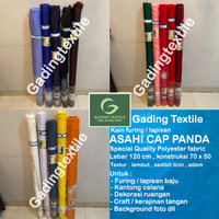Kain Furing Asahi cap Panda lebar 120 cm Furing dekorasi craft