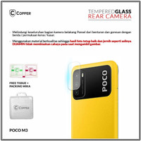 Poco M3 - Copper Tempered Glass Kamera