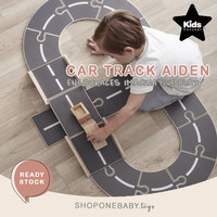 Kid's Concept Car Track Puzzle Wooden Toy Mainan Anak Laki Balap Mobil