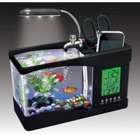 Aquarium Mini USB Fish Tank with Running Water + Jam