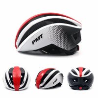 Helm sepeda / Bicycle Helmet PMT PUDI - White Red, L