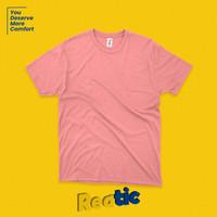Reatic Kaos Polos Oblong Cotton Heavyweight - Flamingo Pink (Unisex)