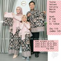 baju family batik couple kebaya prili rose gold ibu ayah anak cwo cwe