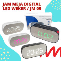 Jam Meja Digital Led Weker / Digital Smart Alarm Mirror Clock
