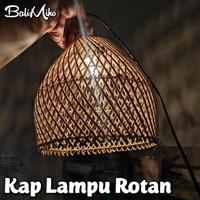 kap lampu rotan/kayu/bambu/lampu cafe/lampu hias