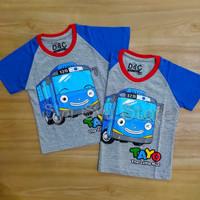 Baju Atasan Kaos Anak Laki Laki Tayo The Little Bus Abu Misty Biru