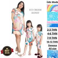 Dress Ibu Dan Anak Perempuan Baju Anak Karakter Unicorn Princess Donat