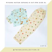 Baju Tidur Piyama Katun Jepang GREET Jumbo K-347 PPK Size XL