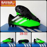 Sepatu Bola Anak Adidas ukuran 28 - 32 - Hijau Hitam, 32