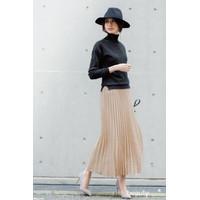 Rok plisket jumbo / rok panjang payung pakaian muslimah warna terang