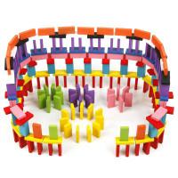 Mainan Anak Kayu Balok Domino Wooden Toys 120 pcs