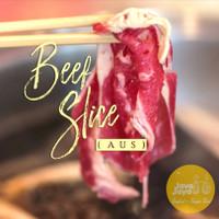 Daging Slice Tipis / Sliced Beef Aus Prime (Less Fat) @500gr